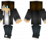 Black Jacket Minecraft Skin - A casual guy with a black jacket.