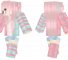 Candy Minecraft Skin - A bright pink and blue girl.