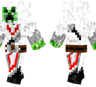 Creeper Assassin Minecraft Skin - A creeper inside the clothes of a character from Assassin's Creed.
