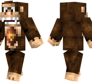 Donkey Kong Minecraft Skin - Ape from the Donkey Kong games.