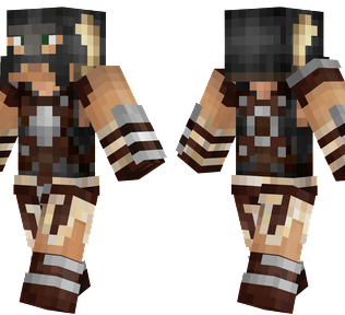 Dragonborn Minecraft Skin - The main character from the game Skyrim.