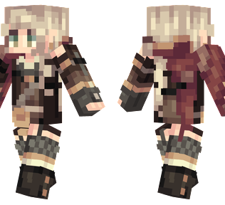 Female Wanderer  Minecraft Skin - A female wanderer wearing black boots and armor.