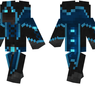 Frost Mage Minecraft Skin - A hooded mage wearing ice robes.