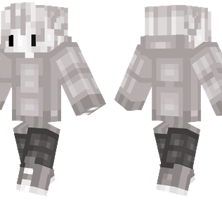 Ghost Boy Minecraft Skin - Faded teenage boy with ghost like hair and clothes.