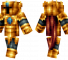 Golden Knight Minecraft Skin - Knight with faded gold armour.