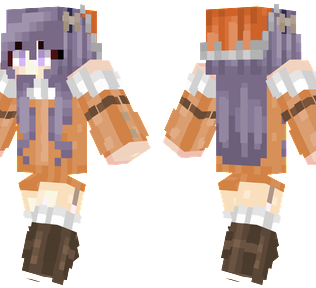 Granny Cookies Minecraft Skin - A granny wearing cookie themed outfit.