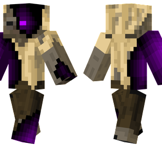 Infected Husk Minecraft Skin - An unlucky Husk infected by The End.