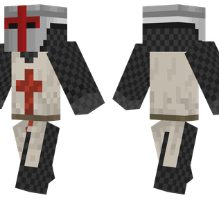 Knight Minecraft Skin - Templar knight complete with chainmail armor.