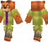 Nick Wilde Minecraft Skin - Character from the popular animated movie Zootopia.