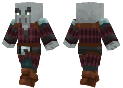 Pillager Minecraft Skin - Mob that fires a crossbow, added in the 1.14 update.