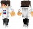 Shiro Minecraft Skin - Boy with red eyes wearing a white shirt.