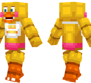 Toy Chica Minecraft Skin - Toy Chica from Five Nights at Freddy's.