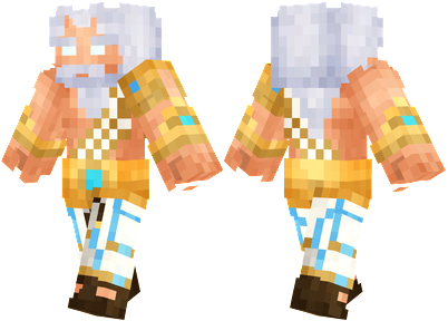 Zeus Minecraft Skin - Zeus, the God of sky and thunder, the son of Cronos and Rhea.